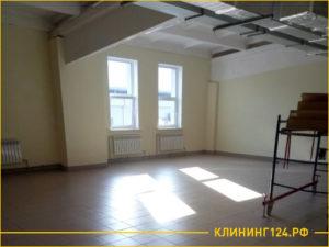 Результат уборки помещения в 100 квадратов