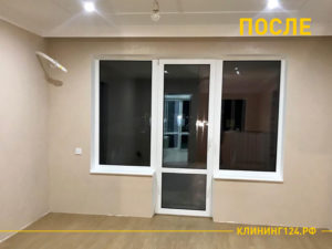 Результат уборки комнаты в частном доме